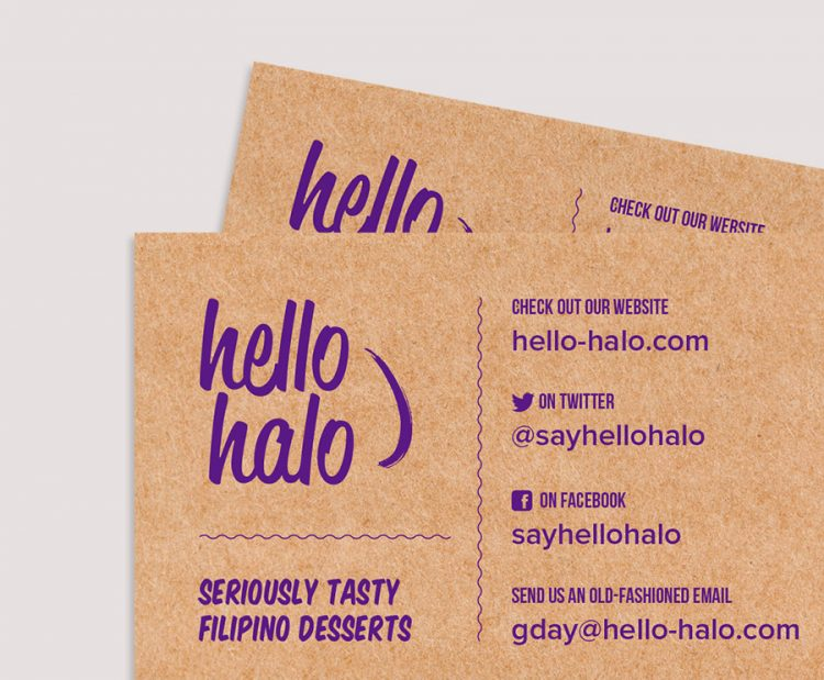 Hello Halo business cards