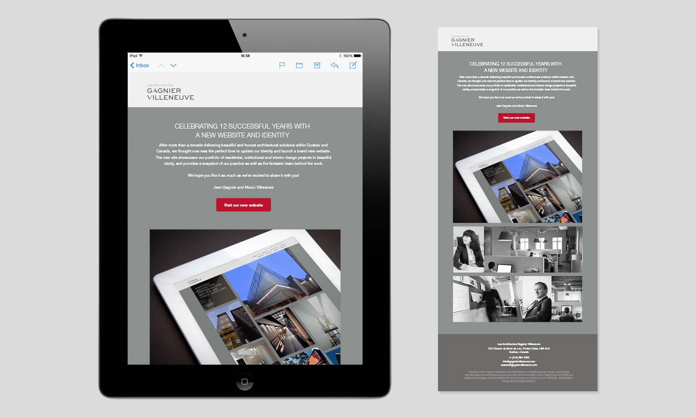 Gagnier Villeneuve launch email