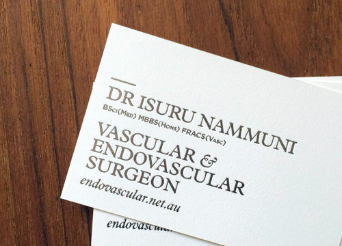 Business card for Isuru Nammuni