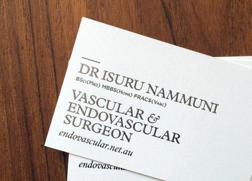 Business card for Isuru Nammuni
