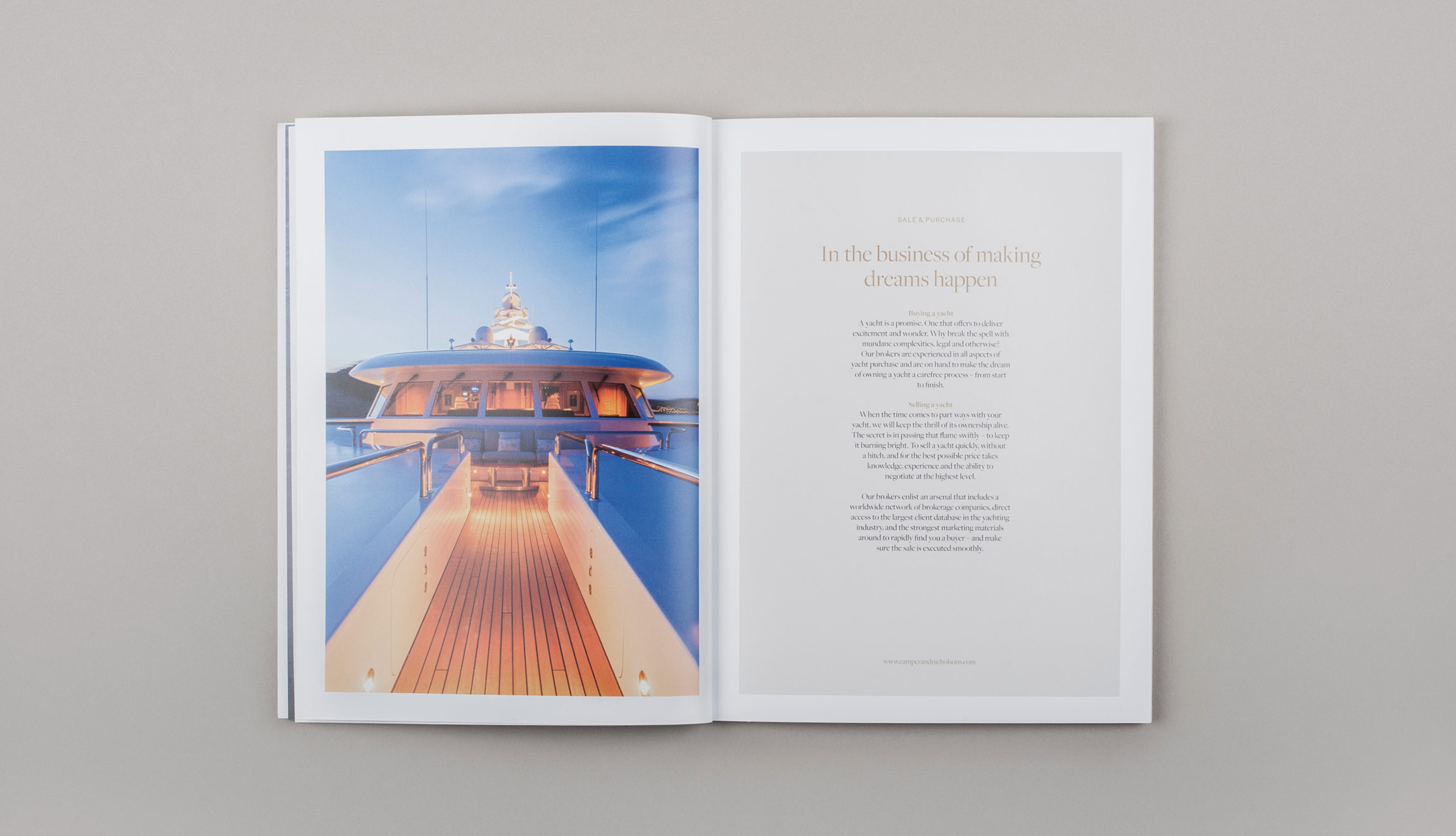 Camper & Nicholsons corporate brochure