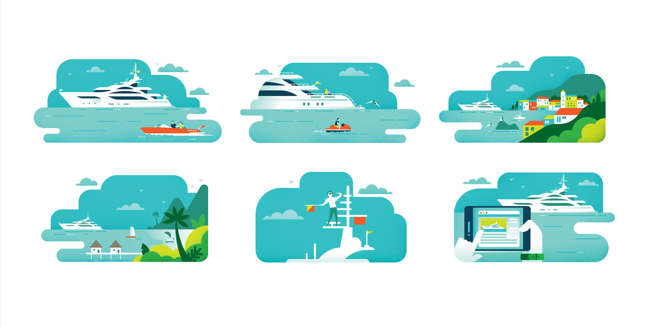 Camper & Nicholsons Sea+I Magazine: Illustrations by Parko Polo