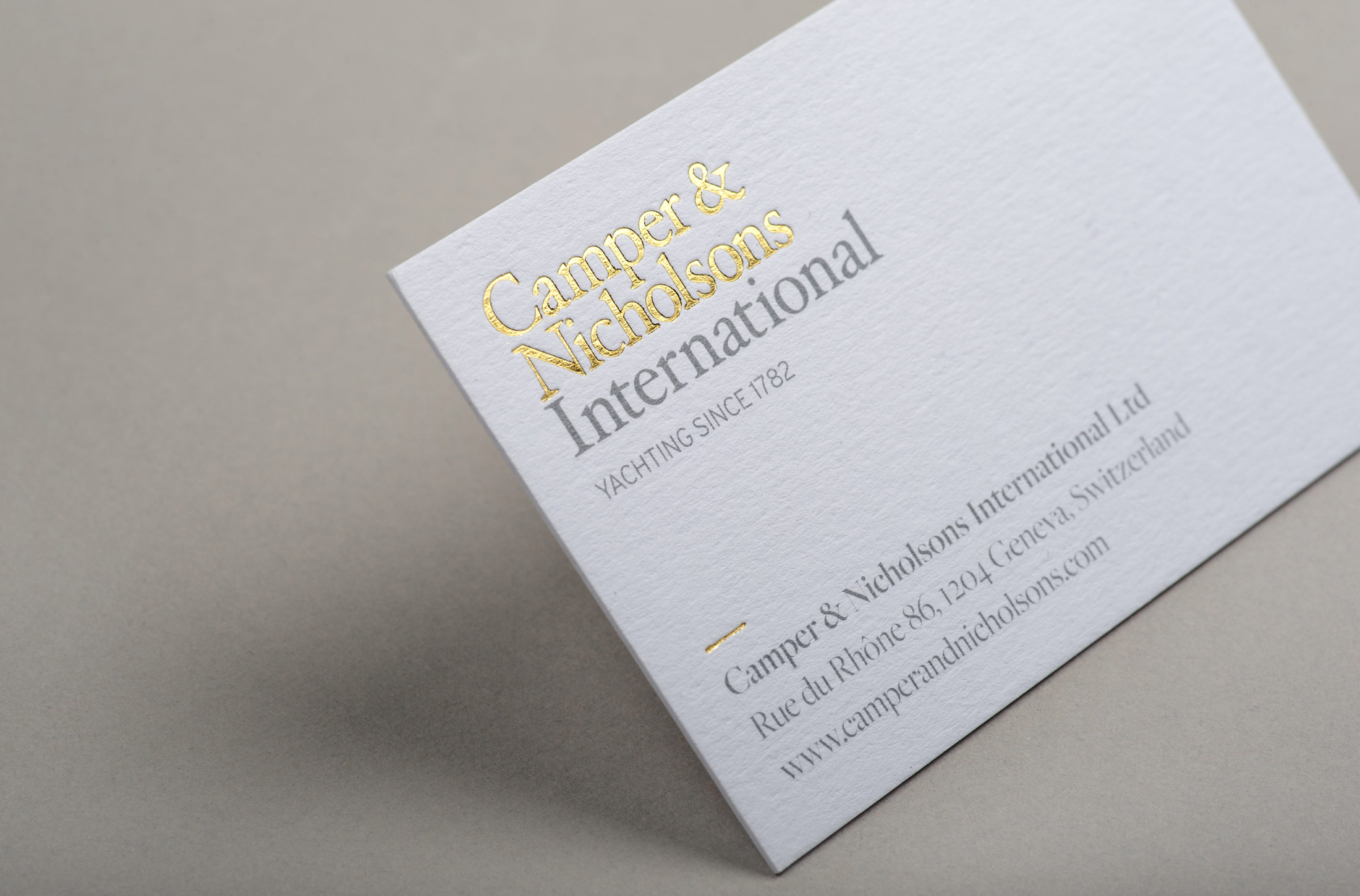 Camper & Nicholsons International business card