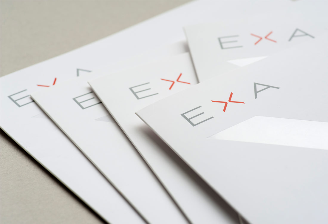 EXA Design client presentation folder