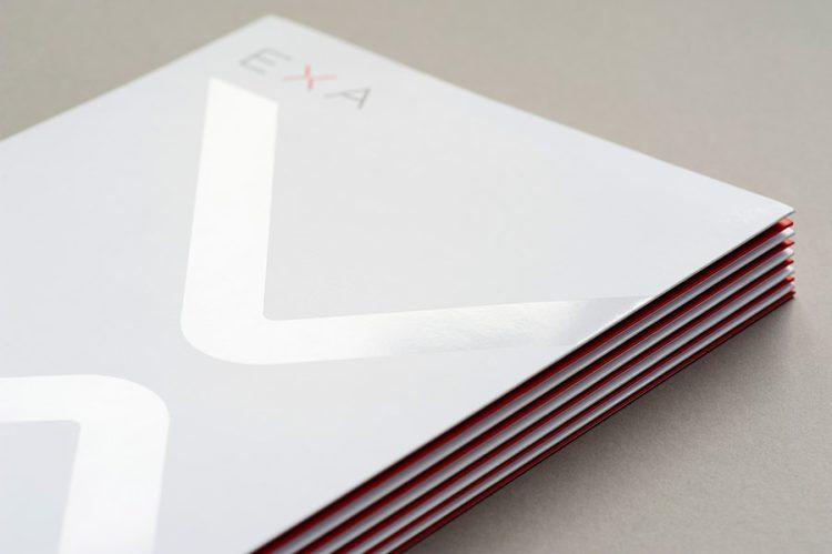 EXA Design client presentation folder