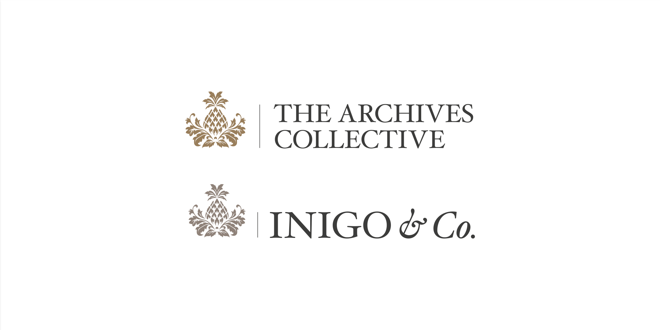 Logos for The Archives Collective and Inigo & Co.