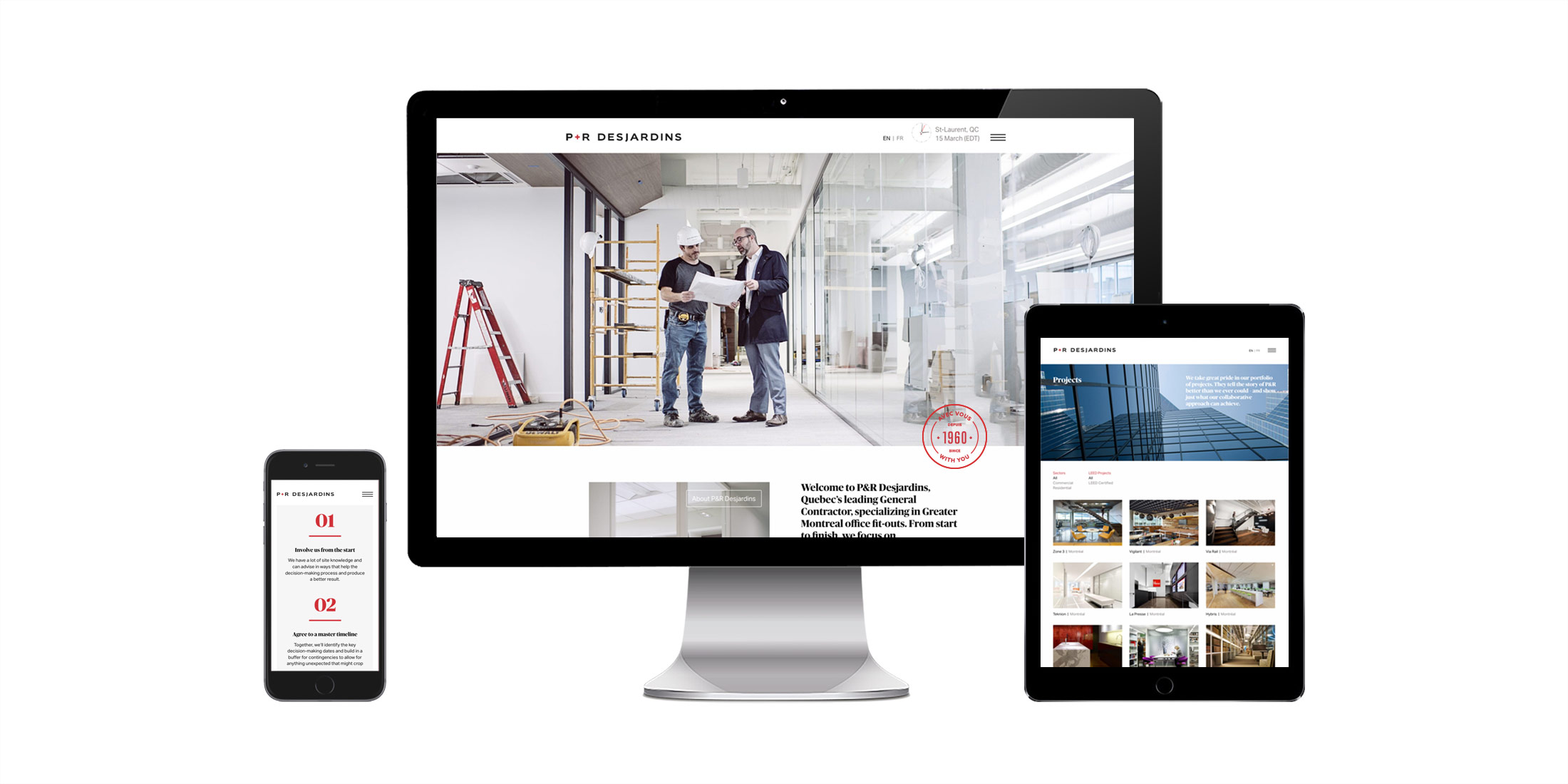 P&R Desjardins website