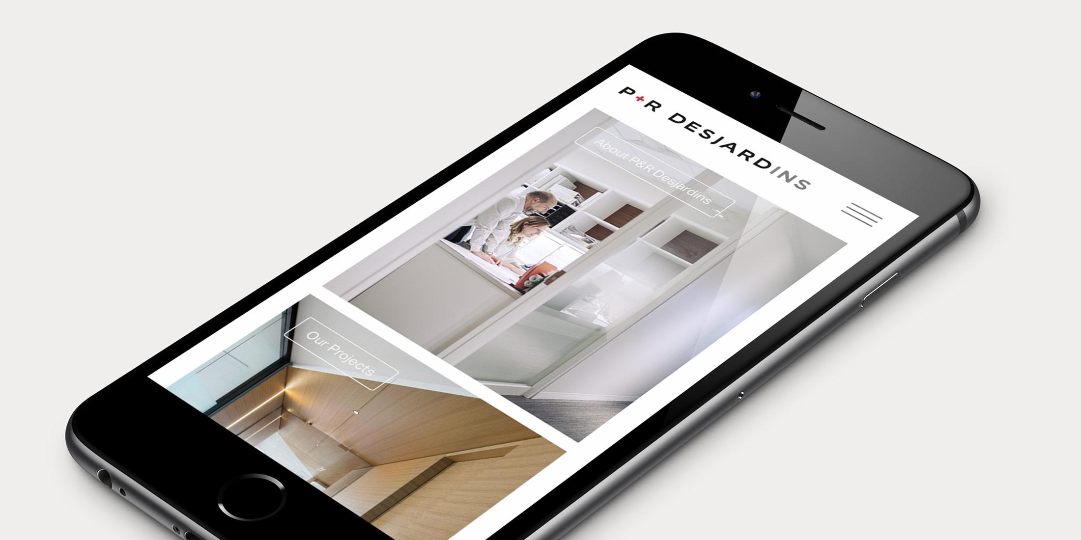 Mobile version of the P&R Desjardins website