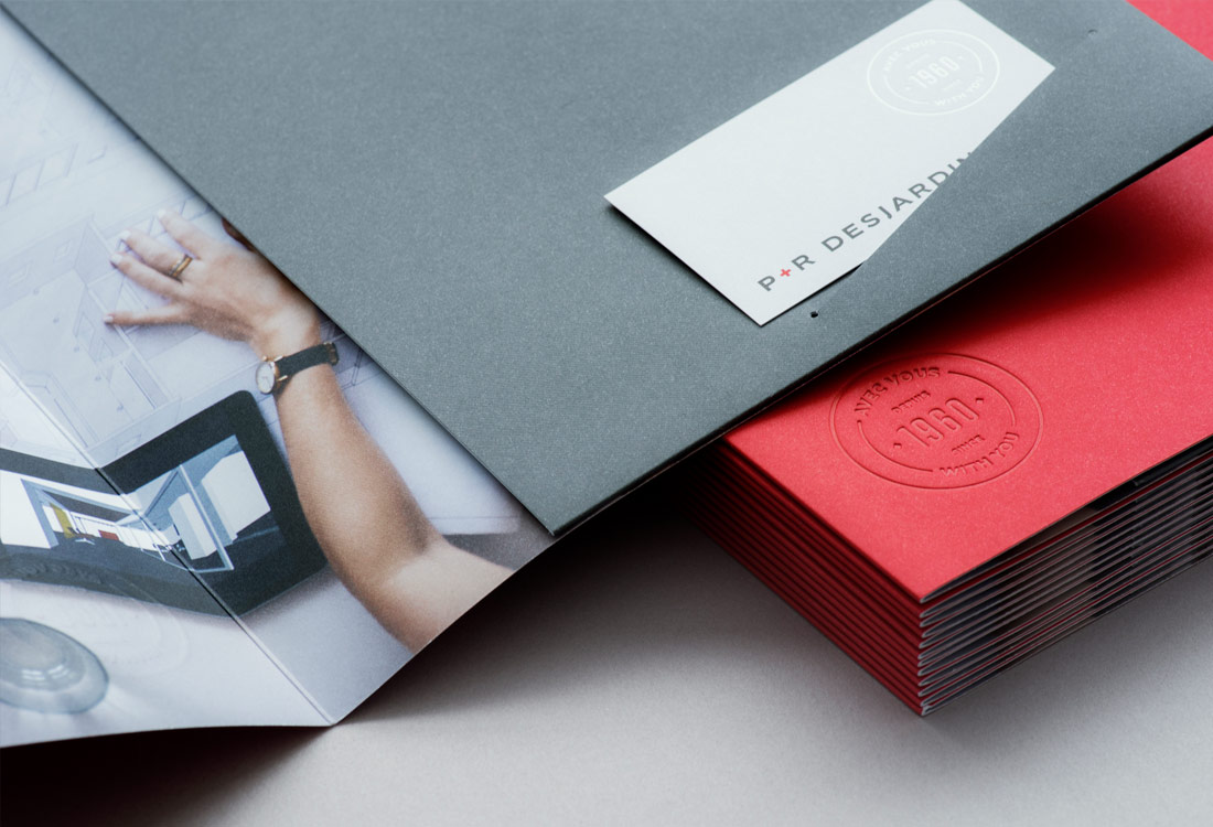 Print collateral for P&R Desjardins