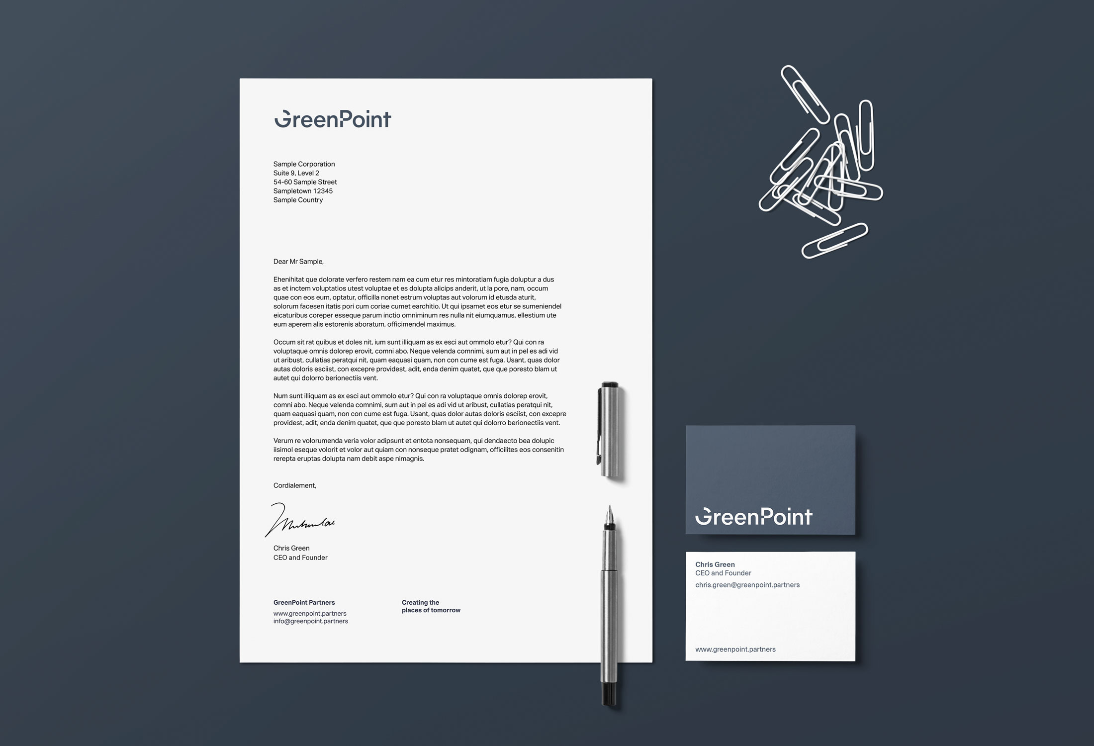 GreenPoint stationery