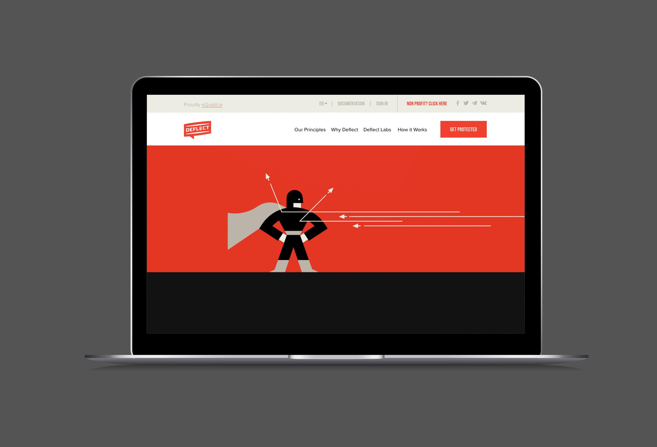 Deflect website