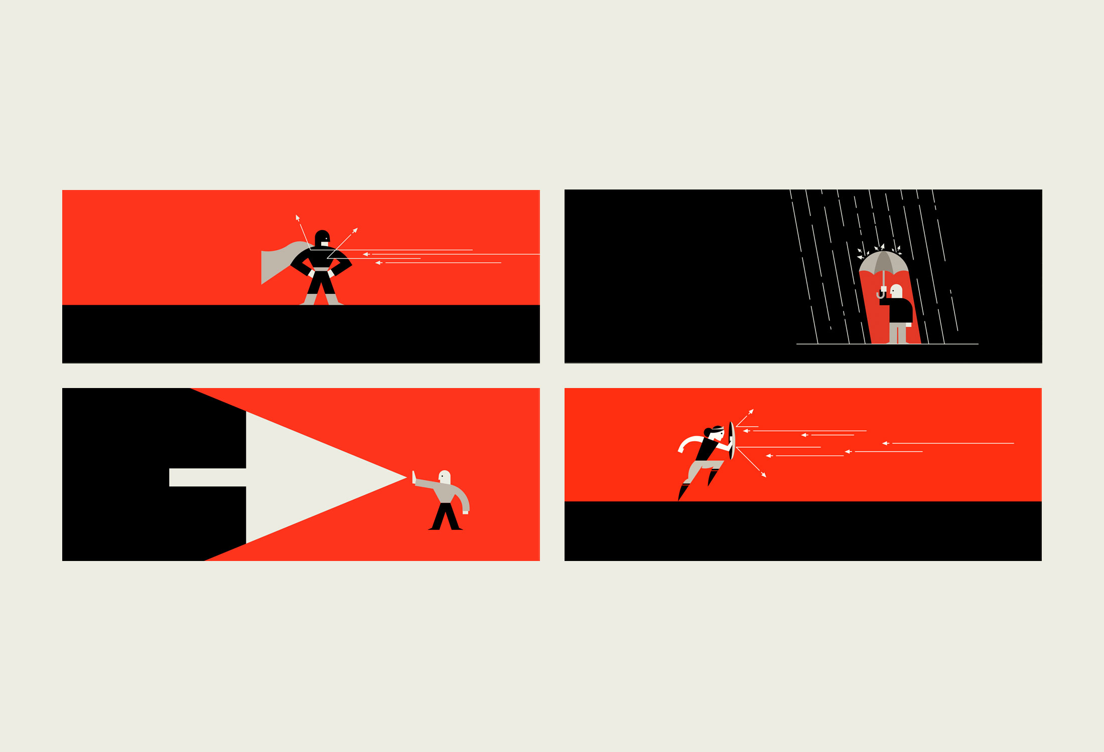 Illustration series for Deflect by Parko Polo